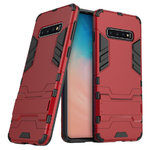 Slim Armour Tough Shockproof Case Stand for Samsung Galaxy S10 - Red